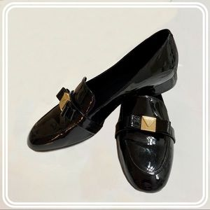 Michael Kors Black Patent Leather Loafers